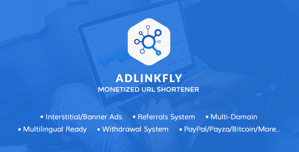 AdLinkFly v6.4.0 – Monetized URL Shortener – nulled PHP Script