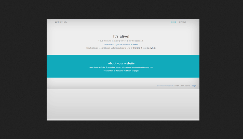 WonderCMS Portal PHP Script Download