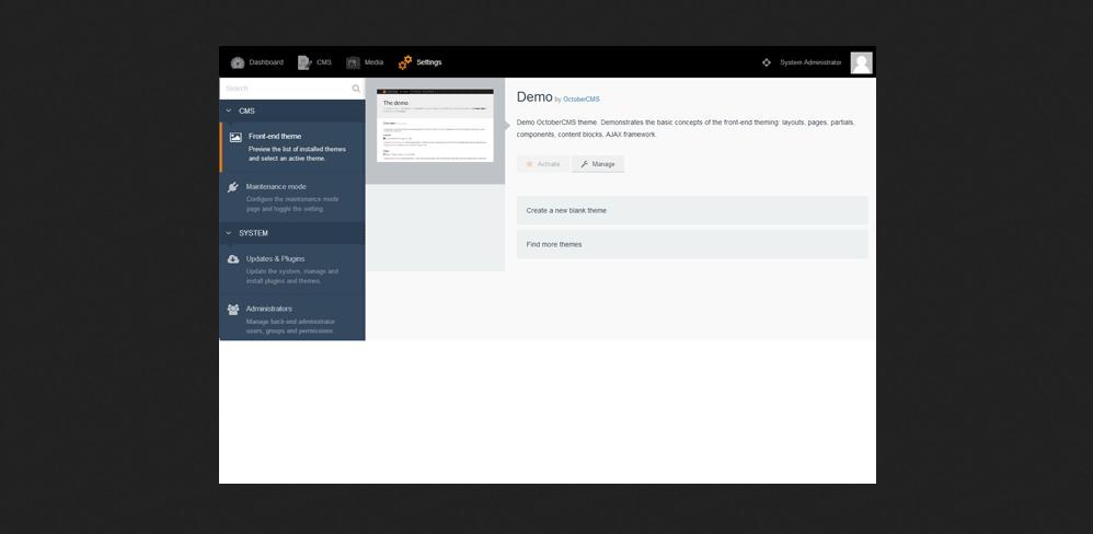 OctoberCMS Portal PHP Script Download