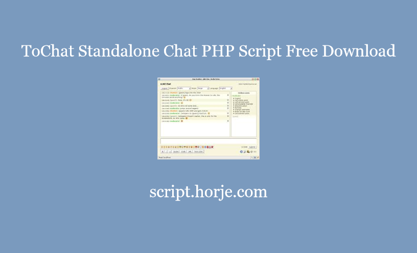 ToChat Standalone Chat PHP Script Free Download