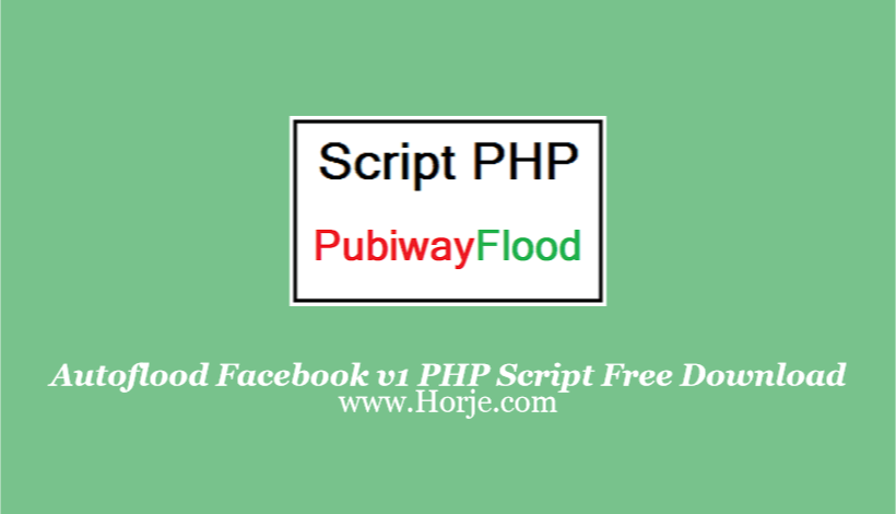 Autoflood Facebook v1 PHP Script Free Download