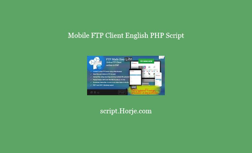 Mobile FTP Client English PHP Script