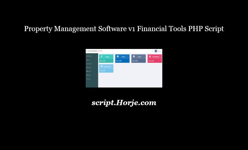 Property Management Software v1 Financial Tools PHP Script