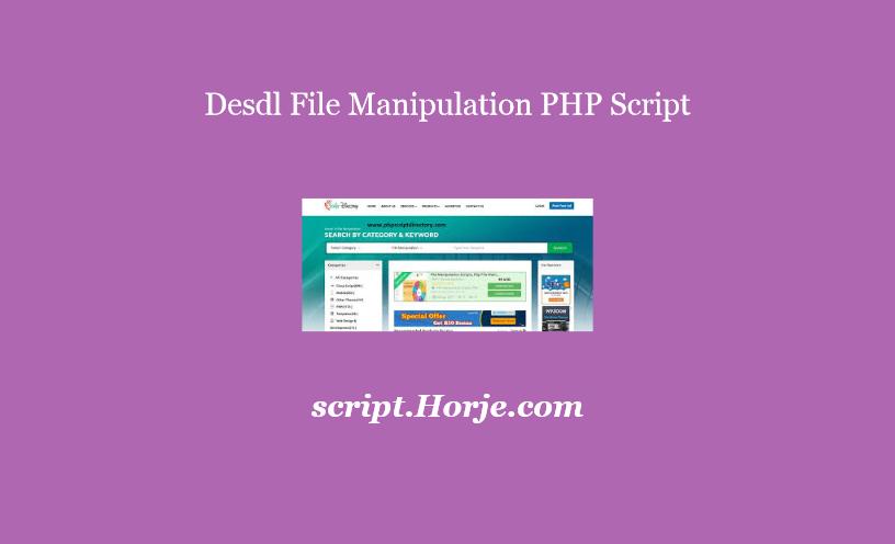 Desdl File Manipulation PHP Script