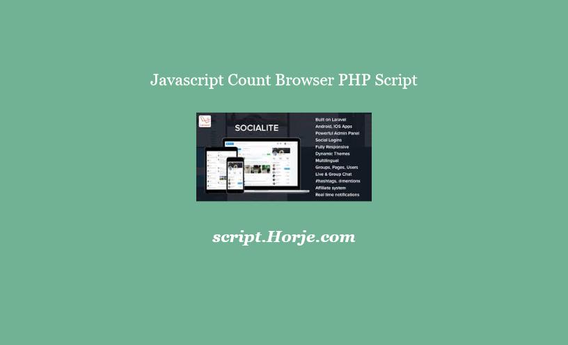 Javascript Count Browser PHP Script