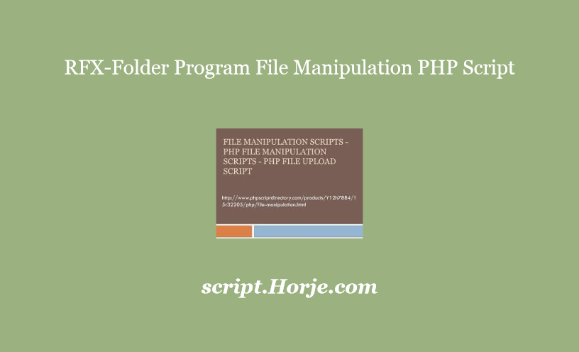 RFX-Folder Program File Manipulation PHP Script