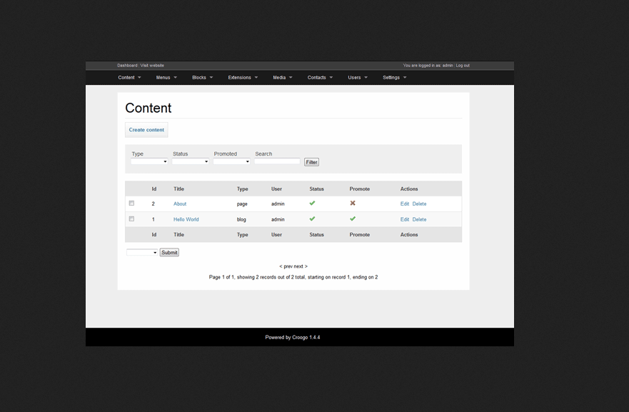 Croogo CMS Portal PHP Script Free Download