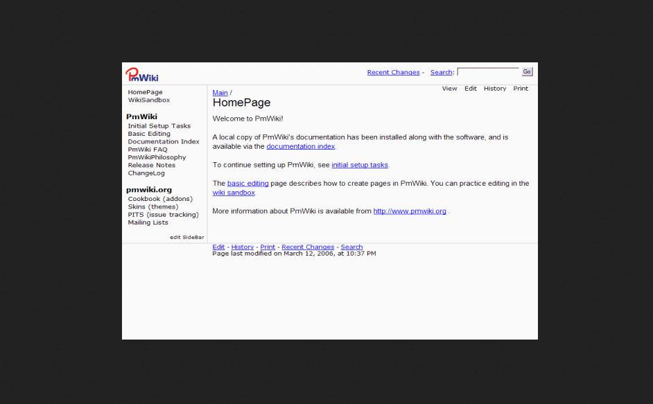 PmWiki Wiki PHP Script Free Download