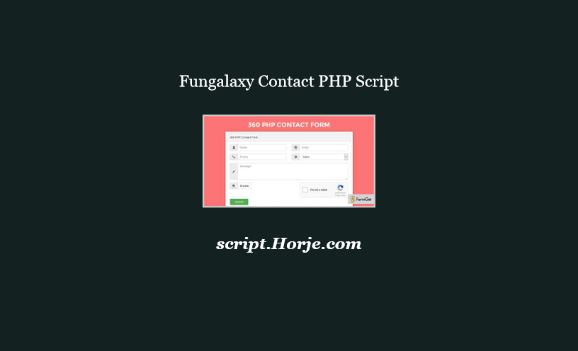 Fungalaxy Contact PHP Script