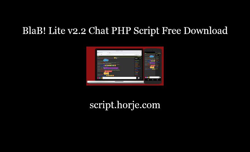 BlaB! Lite v2.2 Chat PHP Script Free Download
