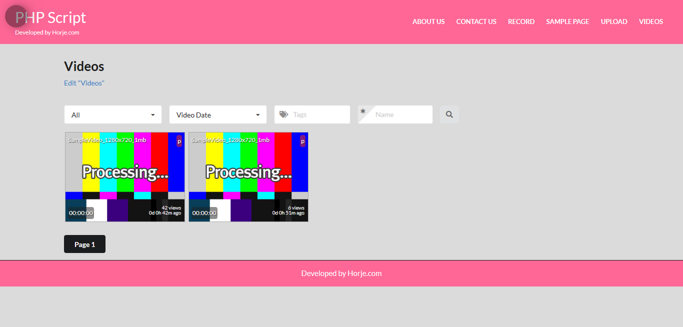 Simple Video Uploader PHP Script Free Download