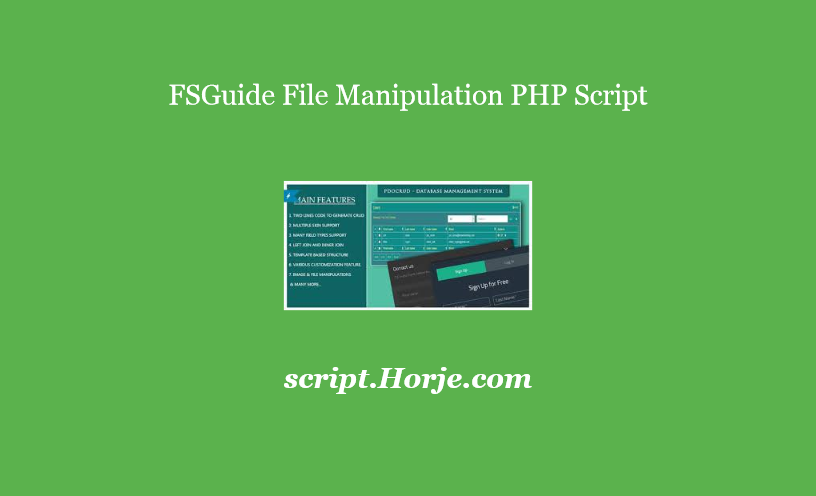 FSGuide File Manipulation PHP Script