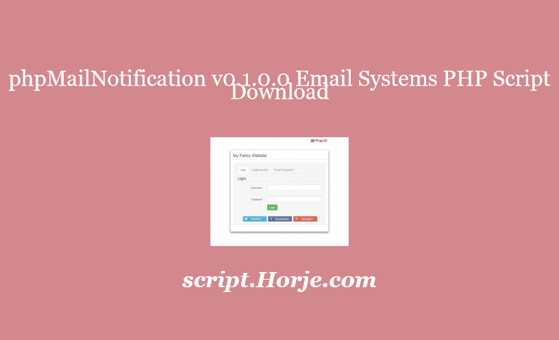 phpMailNotification v0.1.0.0 Email Systems PHP Script Download