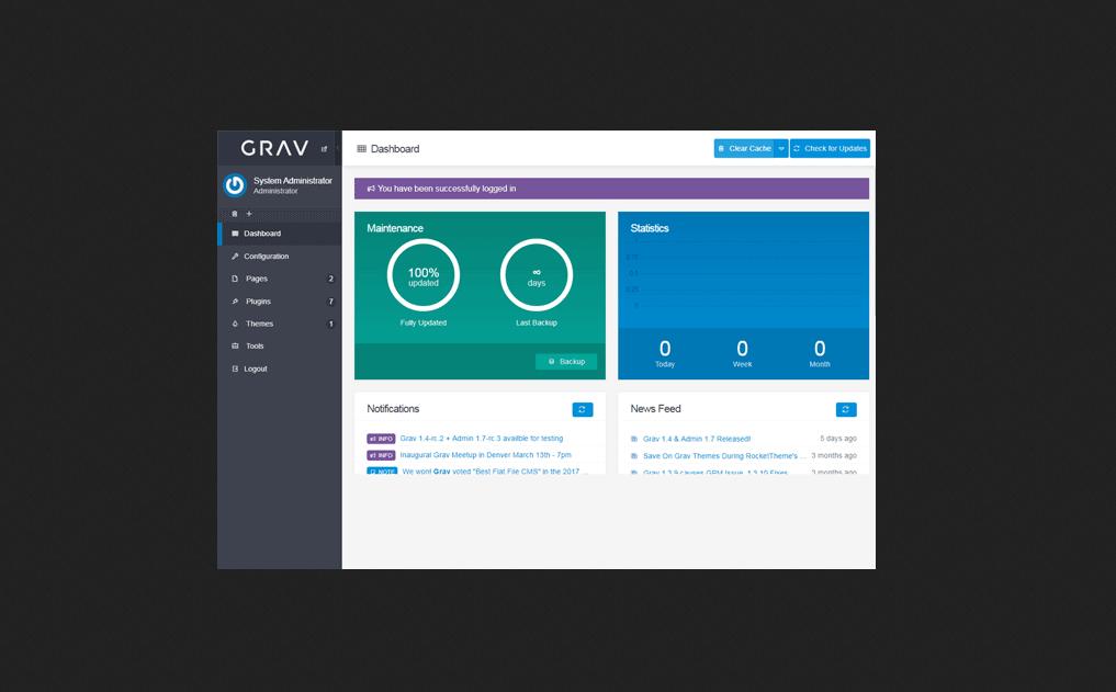 GRAV CMS Portal PHP Script Free Download