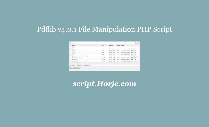 Pdflib v4.0.1 File Manipulation PHP Script