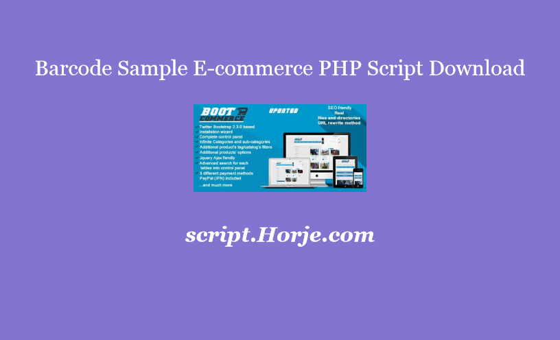 Barcode Sample E-commerce PHP Script Download