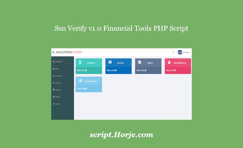 Ssn Verify v1.0 Financial Tools PHP Script