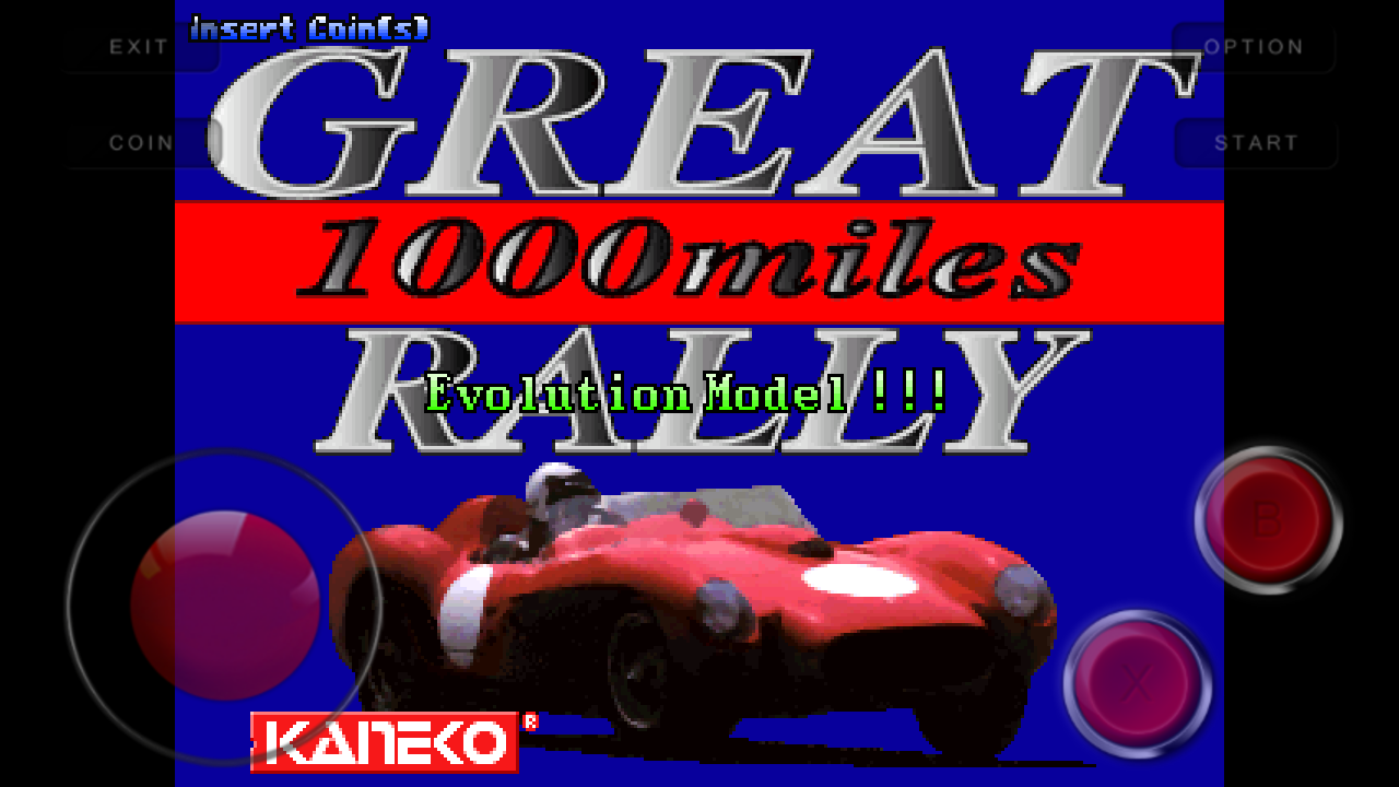 Great 1000 Miles Rally Android Mame Game Free Download