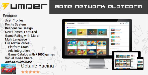 Tumder – An arcade games platforms PHP Script Download