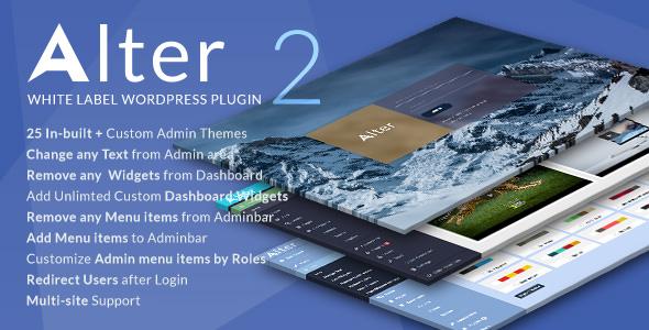 WpAlter v2.3.6 – White Label WordPress Plugin Download