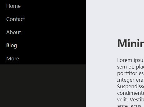 Minimalist Off-canvas Push Menu with jQuery and CSS3 | Free jQuery Script Download