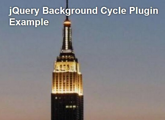 Simple jQuery Background Image Slideshow with Fade Transitions – Background Cycle | Free jQuery Script Download