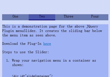 Simple jQuery Navigation Menu Slider – menuSlider | Free jQuery Script Download
