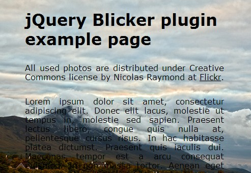 Simple jQuery Plugin For Fullscreen Background Slideshow – Blicker | Free jQuery Script Download