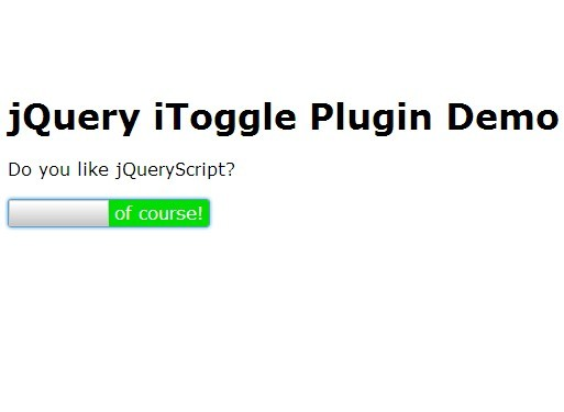 iOS Style Toggle Button Plugin with jQuery – iToggle | Free jQuery Script Download
