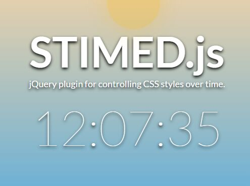 jQuery Plugin To Change CSS Styles On Time Update – STIMED.js | Free jQuery Script Download