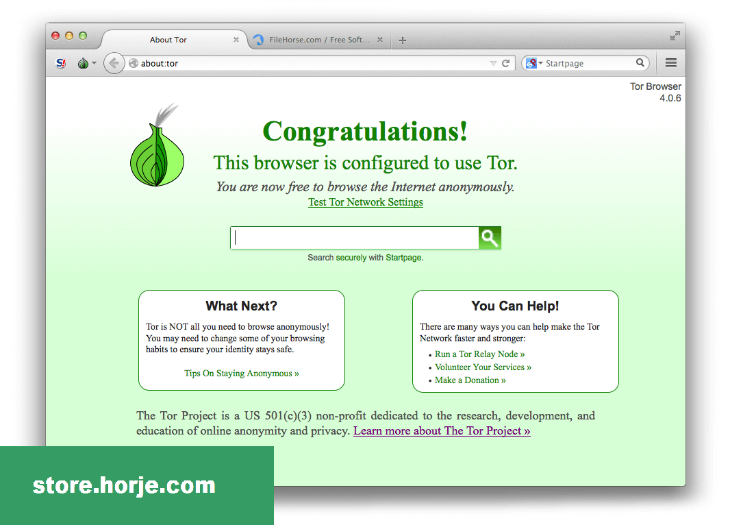 Tor Browser 2.3.25-1 for Mac – Download Free / Free
