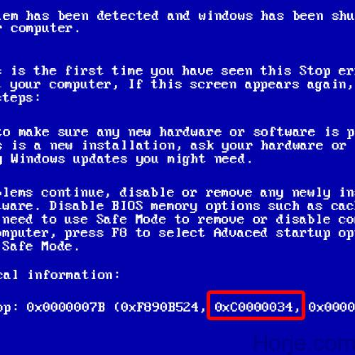 How to Fix Blue Screen of Death Stop Error 0xc0000034