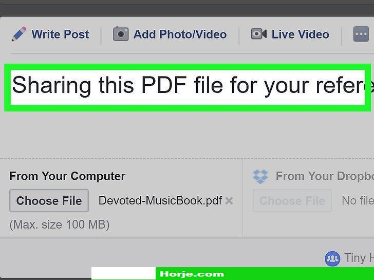 Image titled Post PDF Files to Facebook on a PC or Mac Step 7