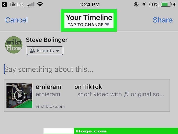 Image titled Share TikTok Videos on Facebook on iPhone or iPad Step 5