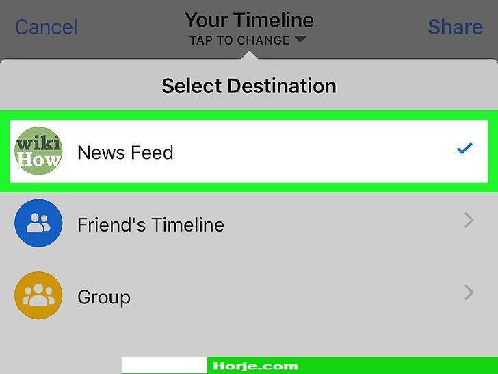Image titled Share TikTok Videos on Facebook on iPhone or iPad Step 6