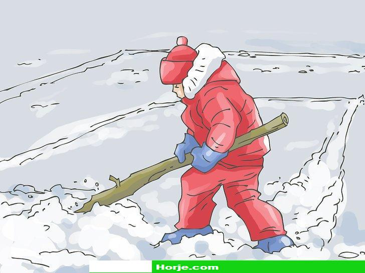Image titled Play Big Bear's Den (Ukrainian Snow Game) Step 2